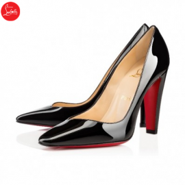 Christian Louboutin cambio Black 100mm Patent Leather Womens High