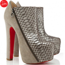 Christian Louboutin 4A 160mm Ankle Boots Taupe